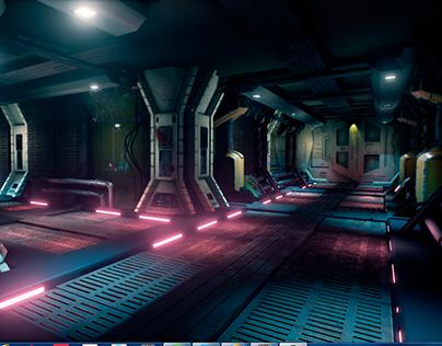 Unreal Engine Sci-Fi corridor