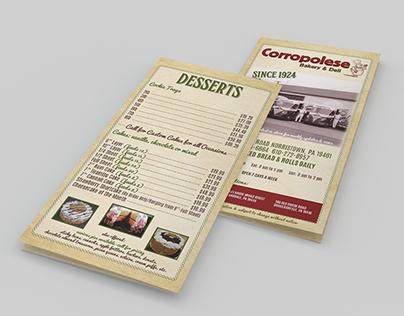 Corropolese Bakery & Deli Menu