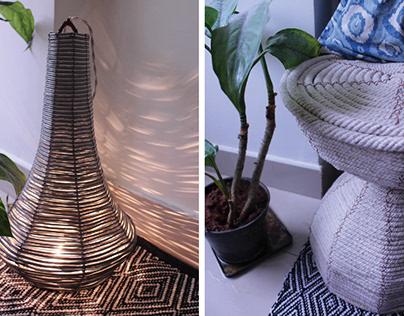Sultana Craft Stool & Lamp