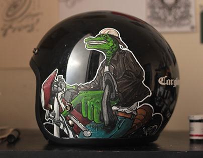 Custom Painting On Helmet - Part 1