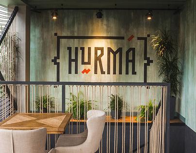 HURMA restaurant . Branding