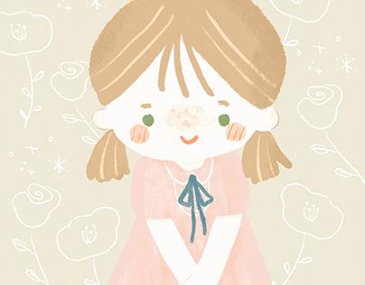 女の子イラスト girl illustration
