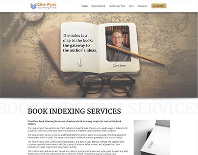 Clive Pyne Book Indexer Web Design