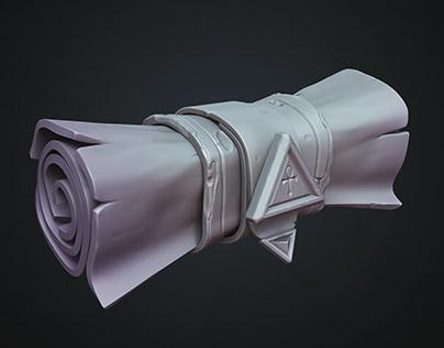 Ankh stylized scroll