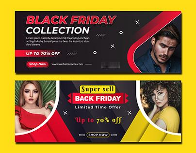 Black Friday Creative Facebook Cover Design Template