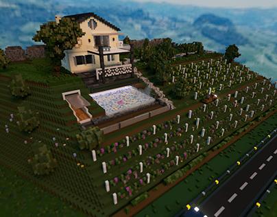 Italian villa in voxels