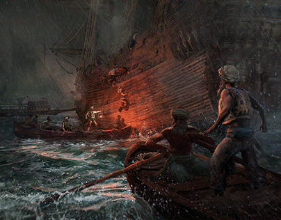 Boarding barbary pirates