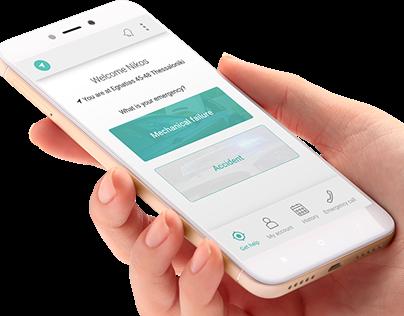 UI/UX design for road assistance mobile apps