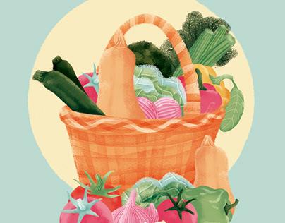 Let's plant a Salad // Digital Illustrations