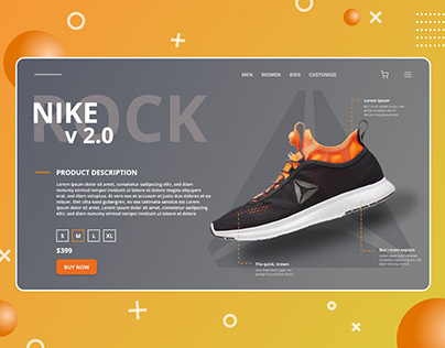 Shoe Company Website Landing Page Design Concept