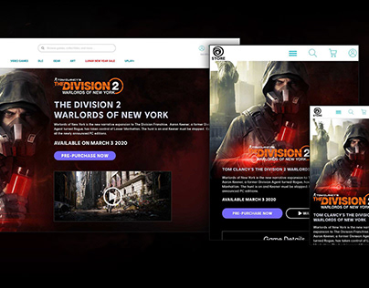 The Division 2: Warlords of New York Landing Page