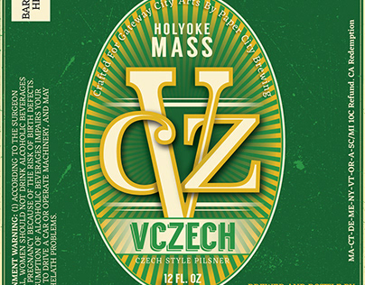 VCZECH Beer Bottle Label