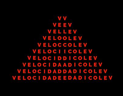 Velocidade - Animated Visual Poem