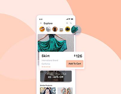 Concept UI/UX Design for E-Commerce App