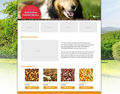 The Animal Park Web Design