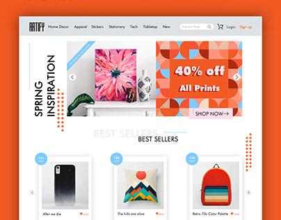ARTIFY | website design concept