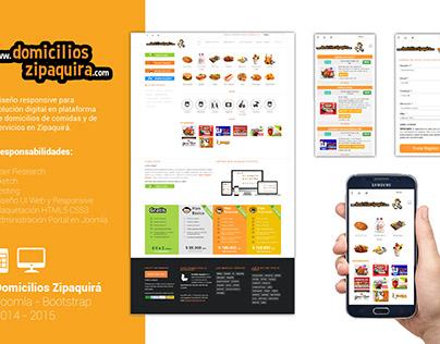Diseño sitio web Domicilios Zipaquirá