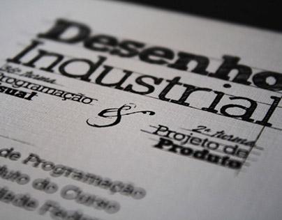 Convite de formatura Desenho Industrial