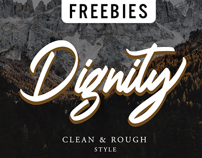 Dignity Brush Typeface - FREE DOWNLOAD FONT
