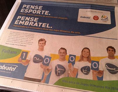 Cover comemorativo 1000 dias Rio 2016 para Embratel