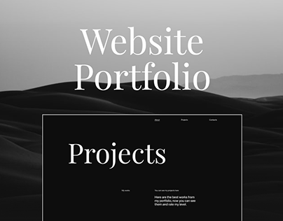 Website Portfolio Design. UX/UI