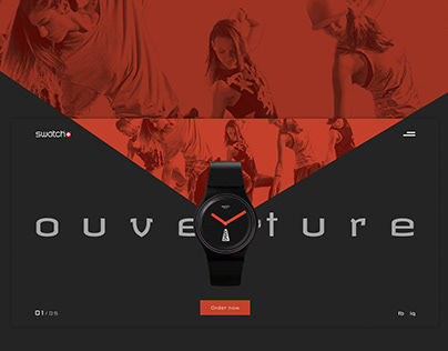 Swatch. Landing page