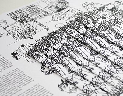 Diseño y edición de catálogo / Las mesas - Juan Narowé