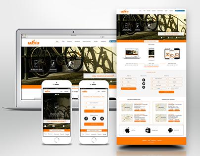 APP4BIKE - UI design, mobile app and web.
