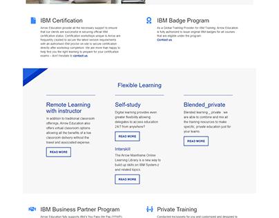 IBM vendor page for Arrow Education