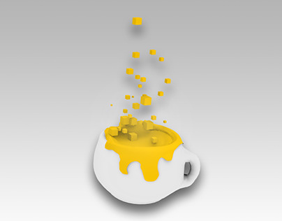 Cup and particles