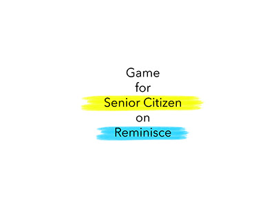 Memoir-Game for Senior Citizen