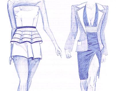 Pen Fashion Design Illustration
