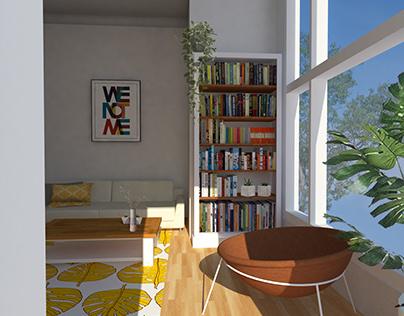 Interior Design Exercise - Living Room/Kitchen.