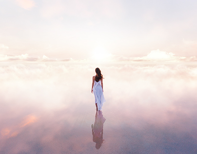 barefoot in the clouds