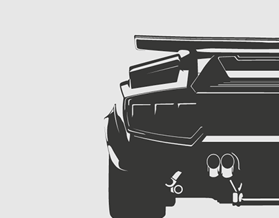 Lamborghini Countach LP5000 QV - Vector Art for sale