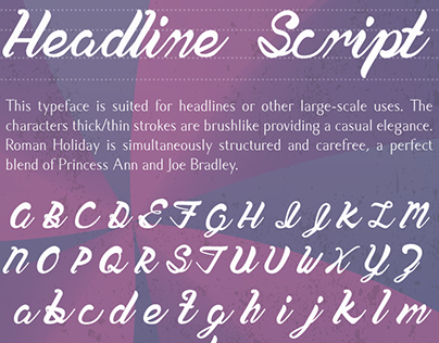 Typeface Design: Roman Holiday
