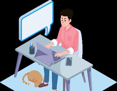 Client Website Vector Art