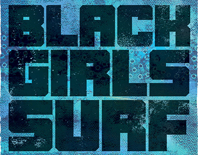 Black Girls Surf Poster