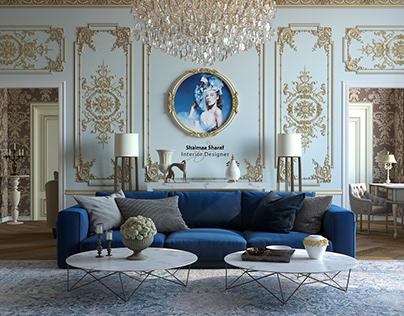 Contemporary &Baroque Living Room