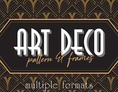 Art Deco Elegant Pattern & Frames By:Arterfak Project