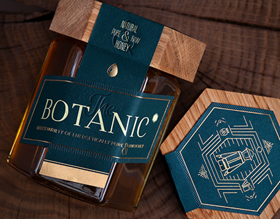 Creative Trade Mark Packaging design. The Botanic honey
