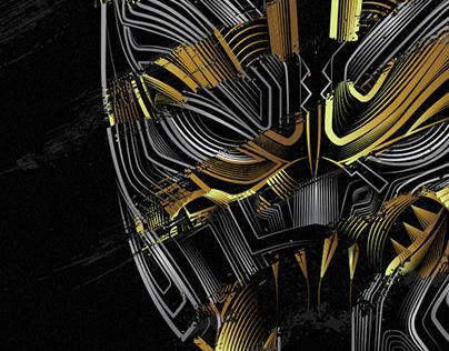 Black Panther Blend Illustration