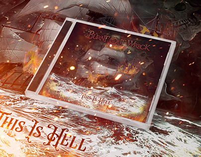 "Burnt Out Wreck ""This Is Hell"" Album art and layout"