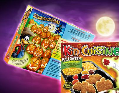 Kid Cuisine Glow in The Dark Packaging