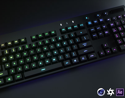 Logitech Keyboard 3D Model and Renders