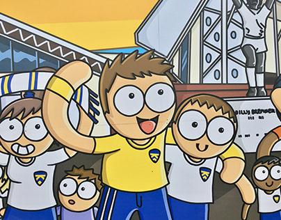 Leeds United Holbeck Underpass Illustration