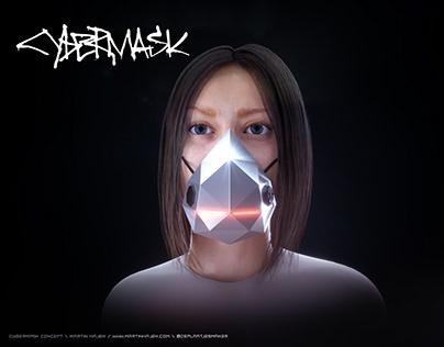 Tesla Cybertruck inspired face mask concept