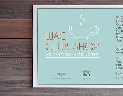WAC Club Shop Coffee Sign Comps