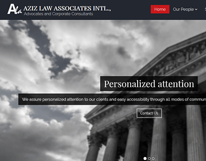 Aziz Law - Website UI