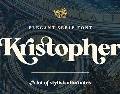 Kristopher • Typeface
